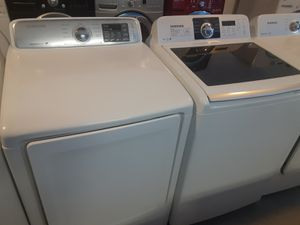 SAMSUNG top load washer and dryer set working perfectly for Sale in Baltimore, MD