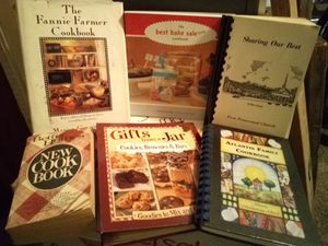 Assorted cookbooks, prices vary, $45 for all 41 for Sale in San Angelo, TX