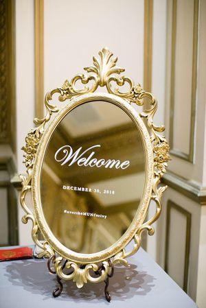Antique mirror | gold mirror | wedding sign | welcome sign | wedding mirror for Sale in Ontario, CA