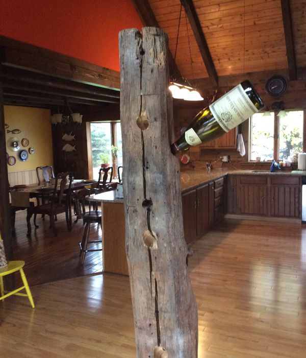 FREE! Hand drilled wine bottle holder 6' tall 17 holes!