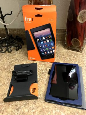 Fire 7 with alexa open box with accessories and case for Sale in Santa Ana, CA
