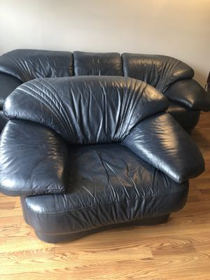 Set of two, sofa and love seat leather for Sale in Herndon, VA