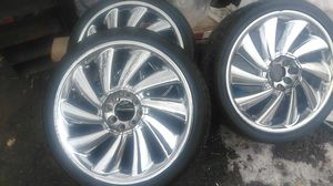 4 lug universal rims whith low profile tires for Sale in Salt Lake City, UT