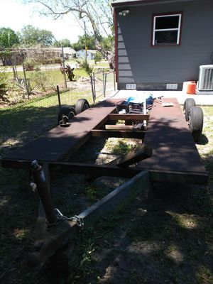 1989 single car trailer power brakes good condition . an No i want take less than a 1000 don't bother .No trade cash only. has a bill of sale for Sale in Saint Petersburg, FL