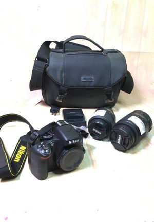 Nikon camera D5100 Dslr digital w 2 lenses BCP005935 for Sale in Fountain Valley, CA