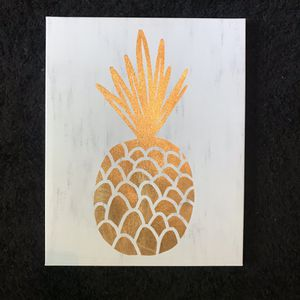 ❌NEW❌ IKEA Vintage Gold pineapple canvas Room Decor Wall Hanging ❌ 16 by 20 for Sale in Virginia Beach, VA