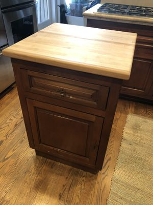 Movable Kitchen Island with Butcher Block for Sale in Altadena, CA
