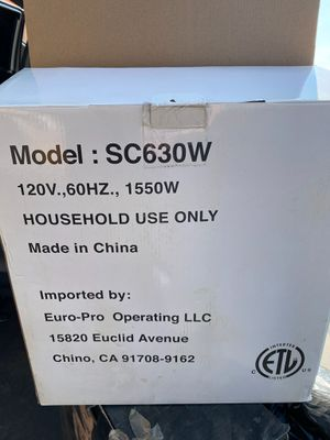 Euro -Pro Steamer for Sale in City of Industry, CA
