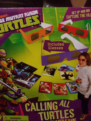 Teenage Mutant Ninja Turtles calling all turtles battle card game for Sale in Mission Viejo, CA