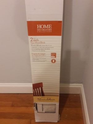 "2 inch 52""Wx64""L Faux Wood Blinds for Sale in Charlotte, NC"