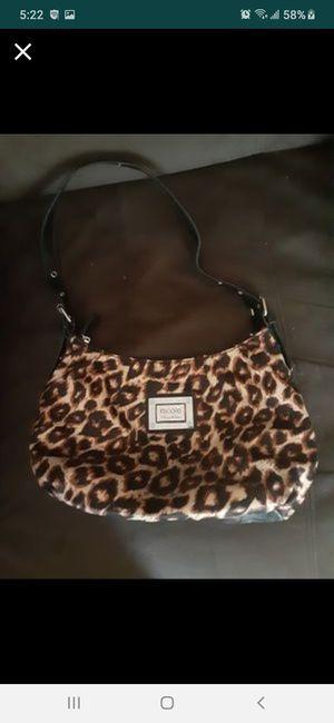 Nicole Miller silk leppard print purse new for Sale in Southbridge, MA