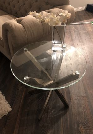 Glass coffee table and side table like new condition Living Spaces for Sale in Santee, CA