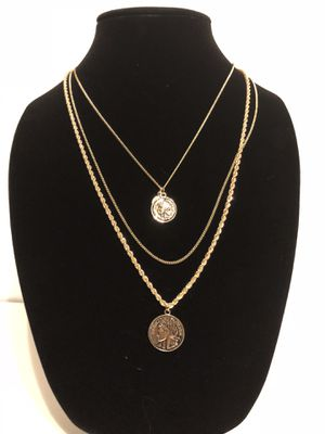 Coin Charm Necklace - Gold Plated for Sale in Clovis, CA