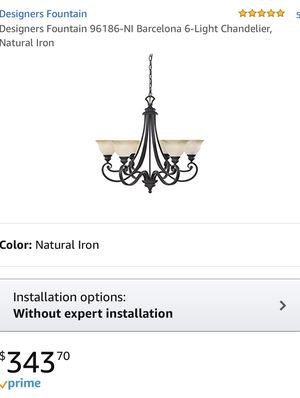 Designers Fountain chandelier basically new for Sale in Phelan, CA