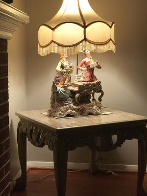 Antique lamp. Capodimonte With shade. for Sale in Springfield, VA