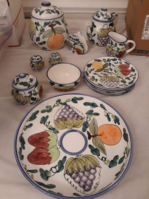 Stokes cookie jar, teapot, plates, salt and pepper shaker, and more for Sale in Glen Allen, VA