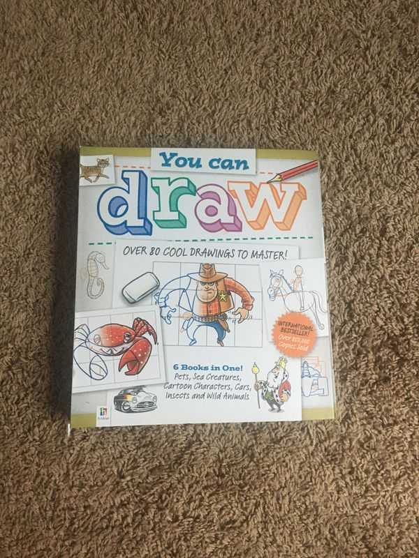 You Can Draw book 80 cool drawings Children's drawing book