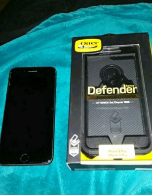 iPhone 8 plus with black otter box for Sale in Abilene, TX