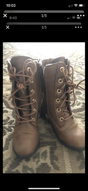 Brown long baby toddler boots for Sale in Turlock, CA