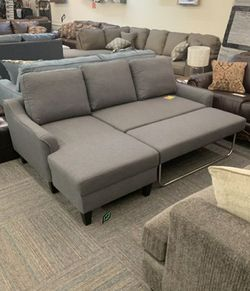 🍂🍃$39 Down Payment 🍂🍃 Jarreau Gray Sofa Chaise Sleeper for Sale in Beltsville,  MD