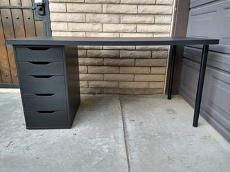 Ikea Alex 5 Drawer Linnmon Desk Sewing Gaming Table for Sale in Los Alamitos,  CA