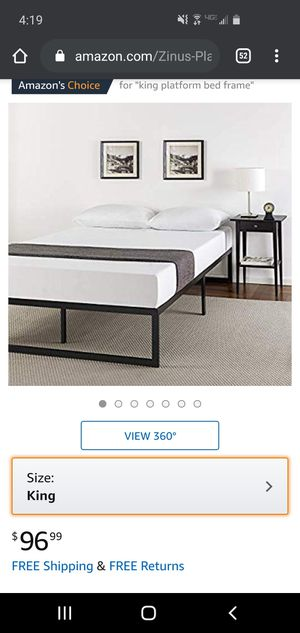Bed frame for a king sized bed for Sale in Richmond, VA