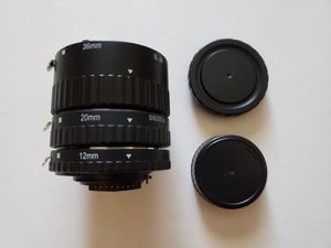 Macro Extension Tube Set 12mm 20mm 36mm for Nikon for Sale in Los Angeles, CA