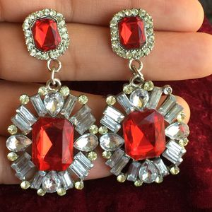Red crystals Christmas earrings for Sale in Silver Spring, MD