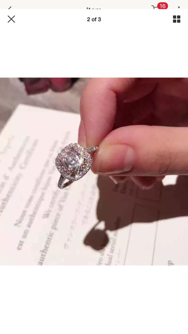 Sterling silver AAA CZ ring wedding engagement casual fashion ring women's jewelry accessory Christmas