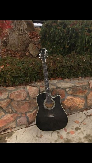 """American Legacy """"black silver cutaway"""" limited edition Esteban acoustic electric guitar released 2006 for Sale in Pleasant Hill, CA"""