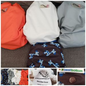 4 Cloth Diaper covers Rumparooz One size and Best Bottom for Sale in El Monte, CA