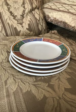 4 small plates, dishwasher safe, microwave safe, stoneware for Sale in Miami, FL