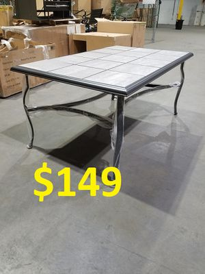 ♛♛♛ Brand new Outdoor Patio porch furniture tile dining aluminum table only for 6 seaters ♛♛♛ for Sale in Houston, TX