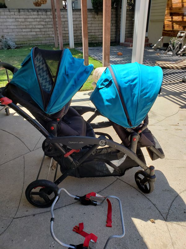Contours Options Elite Double Stroller with Car Seat Adapter