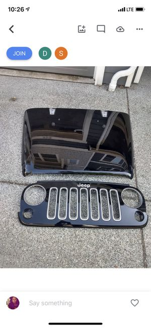 2017 Jeep Wrangler Hood & Grill for Sale in Renton, WA