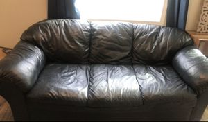 Black Leather Couch for Sale in Morgantown, WV