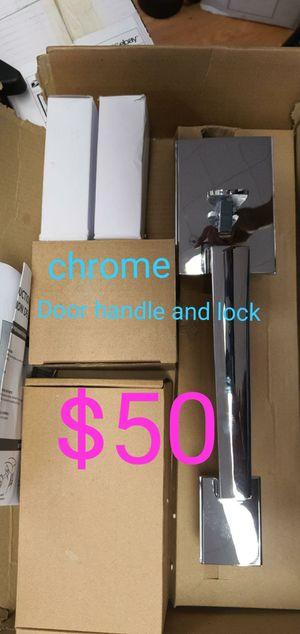 Chrome front door handle with deadbolt lock for Sale in Bakersfield, CA