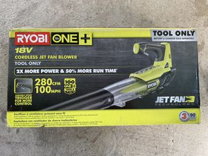 Ryobi one+ leaf blower tool only open box - battery operated battery not included for Sale in Los Angeles, CA