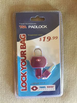 TSA Padlock! Lock your bag! for Sale in Knoxville, TN