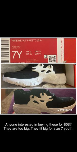 Brand new Nike Presto size 7 youth for Sale in Littleton, CO