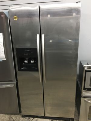 Stainless steel side by side counter depth refrigerator for Sale in Santa Fe Springs, CA