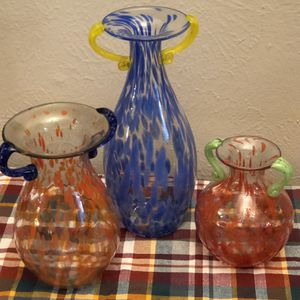 Hand Blown Glass Vases; Scattered Spots for Sale in Aurora, CO