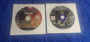 MAXIMO GHOSTS TO GLORY & ZONE OF THE ENDERS 2ND RUNNER PS2 GAME DISC ONLY COMBO for Sale in Missouri City, TX