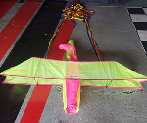 Multi fluorescent color with streamers biplane kite for Sale in Morton Grove, IL