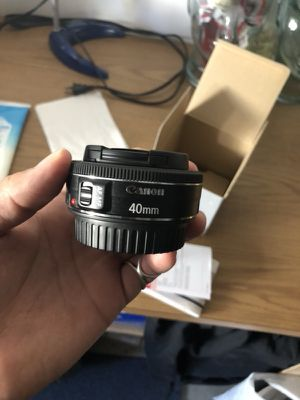 Canon EF 40mm f/2.8 STM Pancake Lens for Sale in Santa Ana, CA