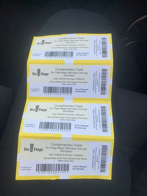 Six Flag Tickets for Sale in Lynwood, CA