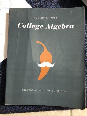 College Algebra Textbook for Sale in Tamarac, FL