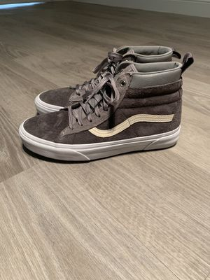 Barely New Vans SK8 Hi Top grey suede. US 7 for Men / US Size 8.5 for woman. for Sale in Miami Beach, FL