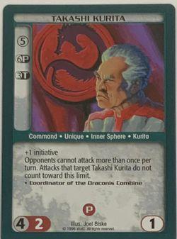 Battletech Takashi Kurita TCG 1996 CCG Wizards of the Coast Trading Card Green for Sale in Oregon City,  OR
