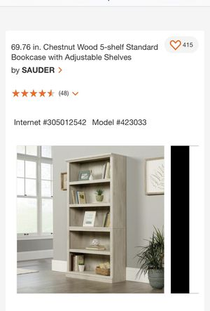 Brand new in box/ adjustable 5 shelf bookcase for Sale in Easley, SC